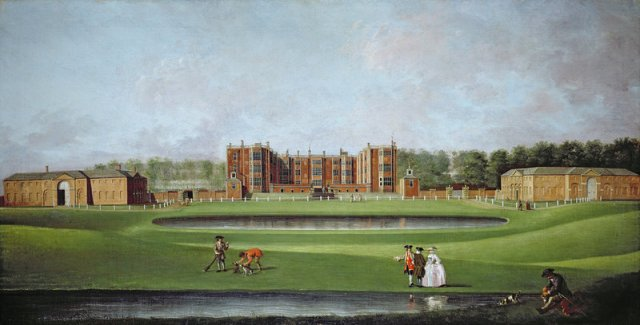 View of Temple Newsam House, c.1750, James Chapman, Leeds City Council