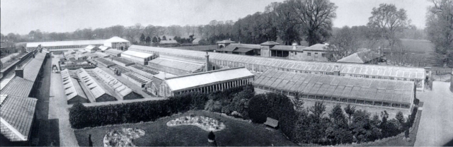 Panorama of the royal gardens looking west, c.1900. Royal Photo Collection