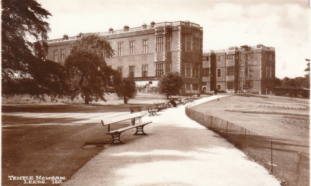 detail from a postcard made just after the park was opened to the public