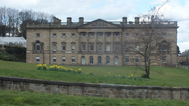 The Palladian front, with the ha-ha in the foreground and the Victorian conservatory just visible on the left David Marsh, April 2016