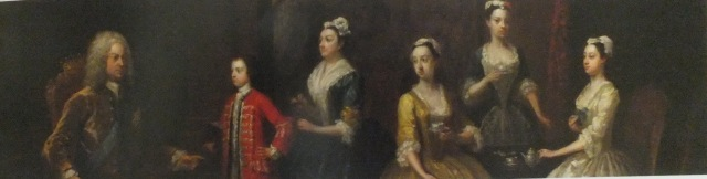 Detail of the earl and his family, by Gawen Hamilton, from the guidebook to the gardens