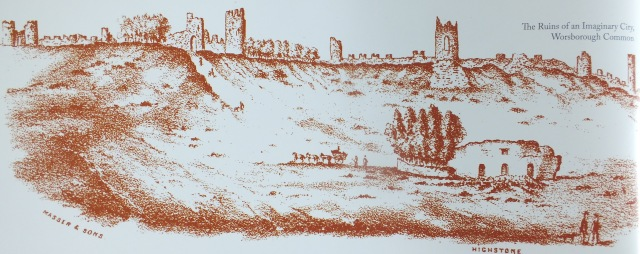 The Ruins of the Imaginary City on Worsborough Common, image from the guidebook