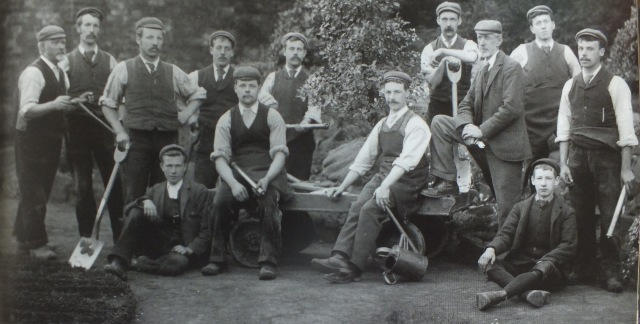 James Batley [standing 3rd from right] and his staff including his son and successor George [2nd left]. Image taken from the guidebook