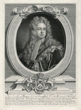 by George Vertue, after Sir Godfrey Kneller, Bt, line engraving, 1715 (1714)