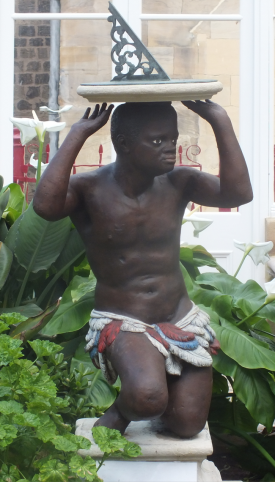 The Blackamoor, now sited in the Victorian conservatory David Marsh April 2016