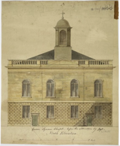 Survey drawing of St George the Martyr, J.B.Papworth,c.1810 https://www.architecture.com/image-library/RIBApix/gallery-product/poster/survey-drawing-of-st-george-the-martyr-queen-square-holborn-london-north-elevation/posterid/RIBA68164.html?tab=print