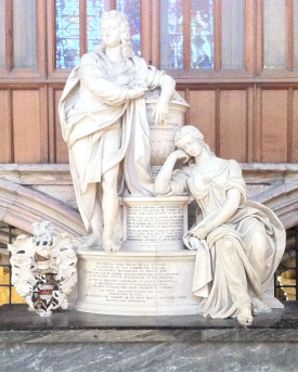 The monument to Thomas Watson-Wentworth in York Minster