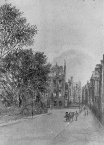 the south west corner of Queen Square, Louisa Twining, c.1870