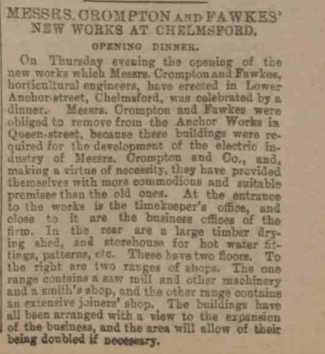 Chelmsford Chroncile, 24 January 1890