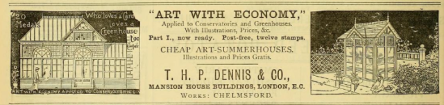 Advert from Gardeners' Chronicle, 8th Jan 1881