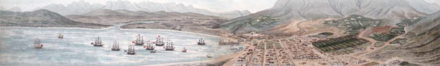 detail of a view of Cape Town by Johannes Schumacher, c.1776 xxxx