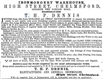 Chelmsford Chronicle, 7 Nov 1856