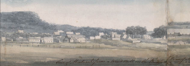 View of Montreal, George Heriot, 1798. National Gallery of Canada
