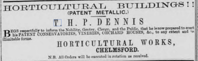 Chelmsford Chronicle, 6 Dec 1861