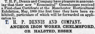 Chelmsford Chronicle, 4th June 1869