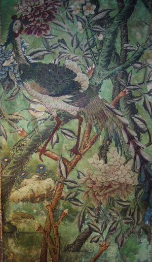 Detail of the Chinese wallpaper in the State Bedroom at Erddig. ©National trust/Andrew Bush
