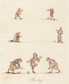 Bowling taken from mediaveal manuscripst in Joseph Strutt's xxxx