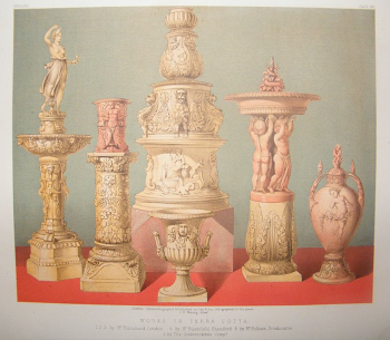 """Works in Terracotta by Blanchard, Blashfield etc"" from ""Masterpieces of Industrial Art & Sculpture at The Great Exhibition, 1862"" by J. B. Waring. http://www.albion-prints.com"