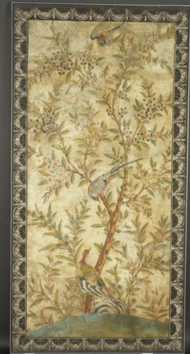 [Wallpaper panel] Hand-painted in tempera on paper, from Berkely House, c.1740 V&A