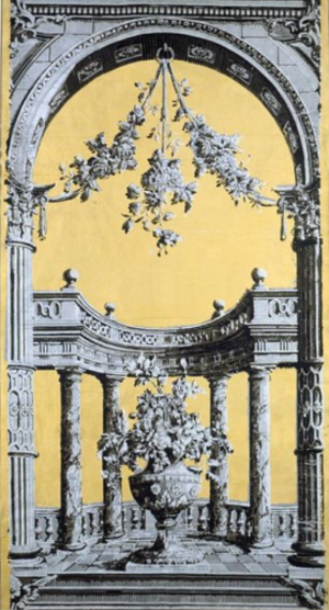 Classical 'arch and pillar ' pattern 1760s, Bourton V&A