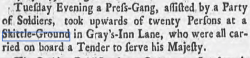 Friday 04 September 1761 ,  Derby Mercury