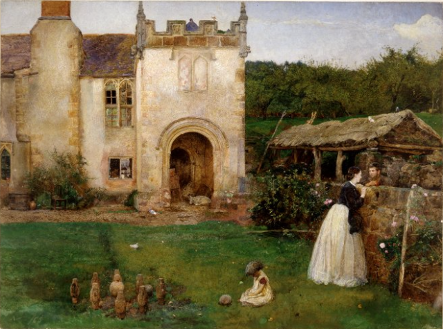 'The Old Bowling Green', Halsway Court, Somerset, John William North, 1865 http://www.britishmuseum.org/research/collection_online/collection_object_details.aspx?objectId=732316&partId=1&searchText=skittles&page=1