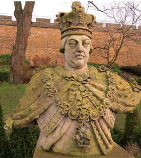 The surviving part of the jubilee statue of George III, Lincoln Castle
