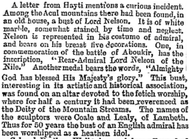 from The Times, 6th November 1860