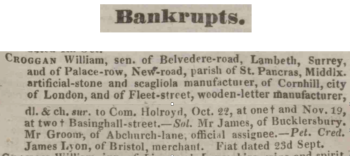 Perry's Bankrupt Gazette, October 1833
