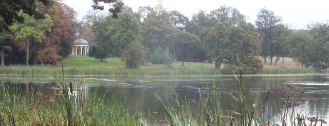 The lake and temple at Wootton, Bucks David Marsh, Sept 2014