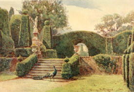 The Terrace at Brockenhurst, from Some English Gardens