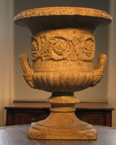Large 19th Century English Terracotta Garden Urn attributed to Blashfield. brownrigg-interiors.co.uk