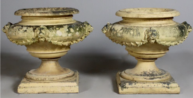 pair J M Blashfield urns arabesqueantiques.co.uk