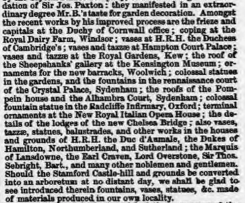 from Stamford Mercury 18th Feb 1859
