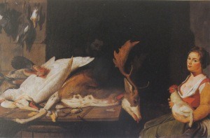 Cookmaid with Still Life of Game, private collection, from Karen Hearn, Nathaniel bacon, p.23