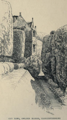 The gardens at owlpen Manor, Gliucs, by Sydney Jones from Manor Houses