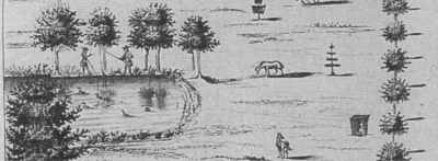 detail from 'Little Offley' by Jan Drapentier in Henry Chauncy's Historical Antiquities of Hertfordshire, 1700 'http://www.furneuxantiquemaps.com