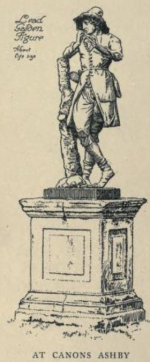 Lead figure from canons Ashby, from Manor Houses