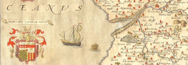 detail from Saxton's map of Lancashire 1579 http://library.lancs.ac.uk/maps/Map2G1577.jpg