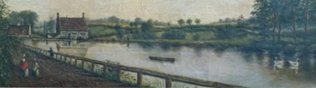 Anon 19thc painting Bourne Mill, National Trust