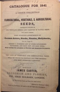 Carters 1841 catalogue British Library