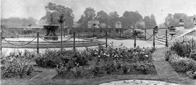 The Rose Garden at Raynes Park, which could be seen from the railway