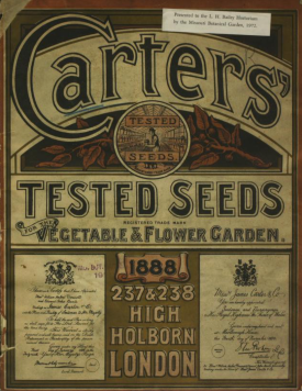 Cover of the 1888 Catalogue