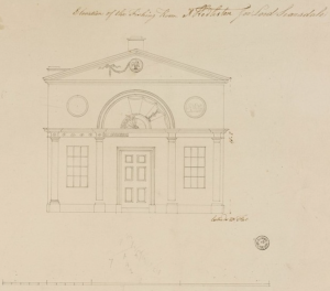 Design for te Fishing Lodge, 1769-70, from Sir John Soane's Museum. http://collections.soane.org/ARC2080