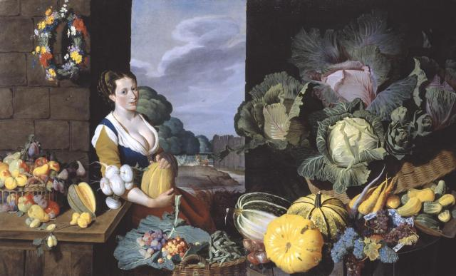 Cookmaid with Still Life of Vegetables and Fruit c.1620-5 Sir Nathaniel Bacon 1585-1627 Purchased with assistance from the Art Fund 1995 http://www.tate.org.uk/art/work/T06995