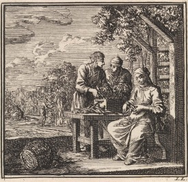 From 'De Bykorf des gemoeds', 1711, Jan Luyken1711