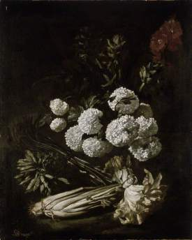 Ruoppolo, Giovanni Battista; Still Life of Flowers and Vegetables; The Ashmolean Museum of Art and Archaeology; http://www.artuk.org/artworks/still-life-of-flowers-and-vegetables-142691
