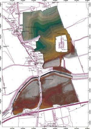 Bodiam Topographic Survey from http://sites.northwestern.edu/medieval-buildings/files/2012/11/3DfromTIN.jpg