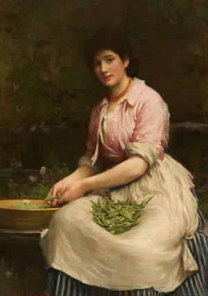 Fildes, Luke; Girl Shelling Peas; Warrington Museum & Art Gallery; http://www.artuk.org/artworks/girl-shelling-peas-104014