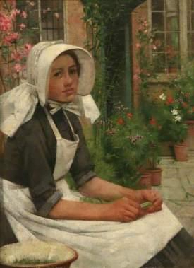 Tayler, Albert Chevallier; Girl Shelling Peas; Penlee House Gallery & Museum; http://www.artuk.org/artworks/girl-shelling-peas-15109